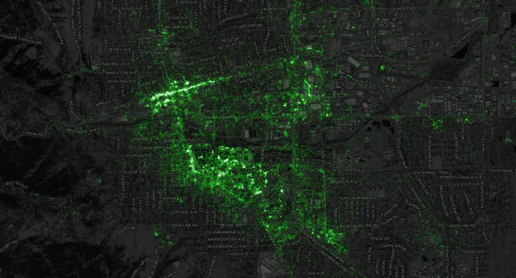Boulder Twitter Map, Visualization